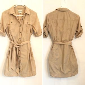 Banana Republic Safari button up dress 6